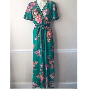 Flying Tomato Floral Print Belted Jumpsuit